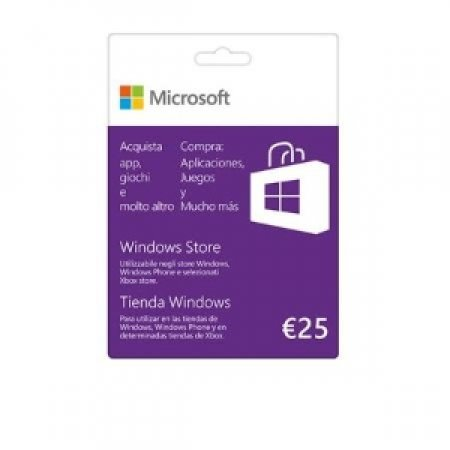 MICROSOFT Buono per XBOX e Windows Store da 25 € - GIFT CARD 25 EURO K6W-00352