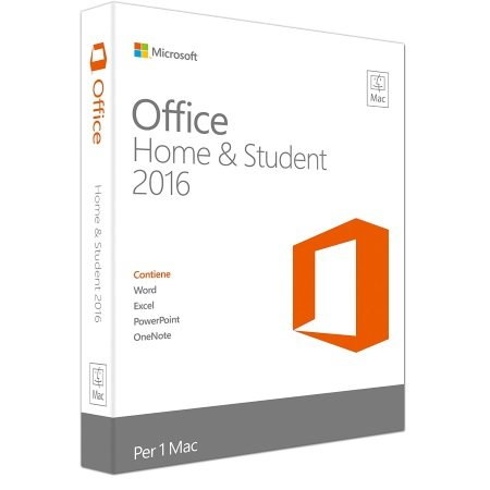 Microsoft Per 1 Mac (da Mac OS X 10.10) - Office Home & Student 2016 - MAC