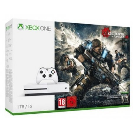 Microsoft - Xbox One S 1tb + Gears Of War 4 234-00037