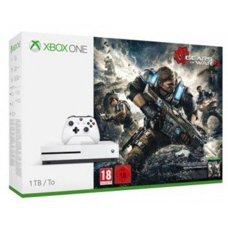 Microsoft - Xbox One S 1tb + Gears Of War 4234-00037
