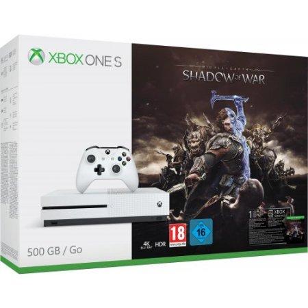 Microsoft Console fissa - Xbox One S 500Gb + L'ombra Della Guerra- zq9-00163