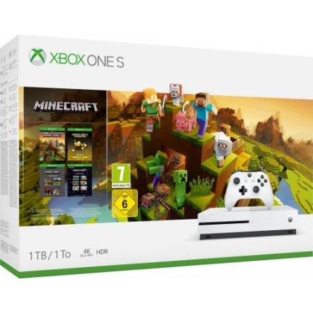 Microsoft - Xbox One S 1tb + Minecraft Creators 234-00662