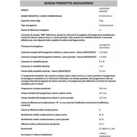 Hotpoint Asciugatrice a condensazione - ariston - Ntm1081eu