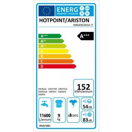 Hotpoint Lavatrice carica frontale 9 kg. - ariston - Nr649gwsa