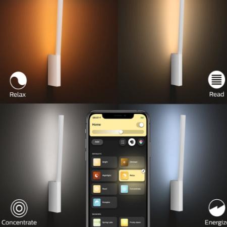 Philips Hue - Liane Hue - Lampada da parete -White and Color Ambiance LED integrato - 4090231P9