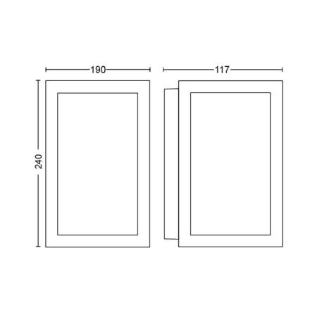 Philips Hue Impress Lampada da parete o soffitto in vetro e acciao - 1743030p7
