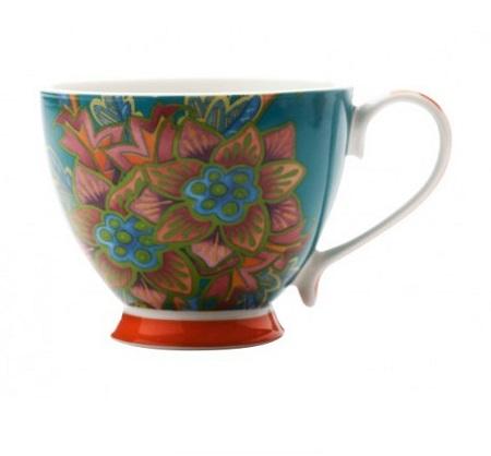 HANOI MUG FLOWER LILY 400ML BLUE