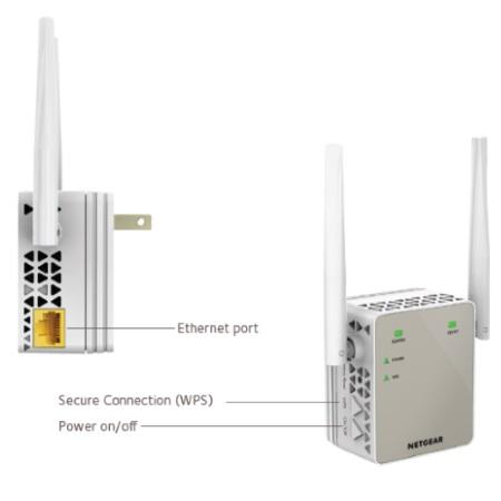 Netgear Extender Wi-Fi per amplificare la rete Wi-Fi - Ex6120-100pes