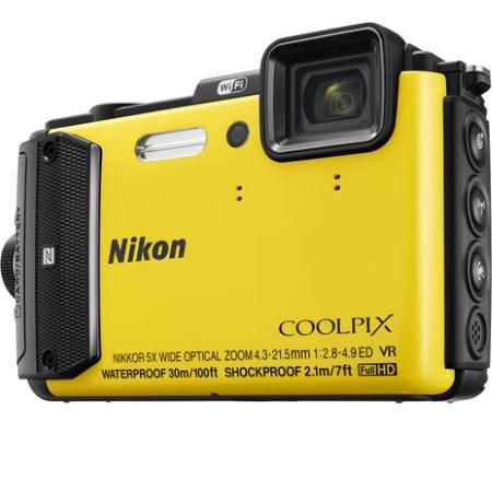 Nikon Fotocamera digitale compatta impermeabile - Coolpix AW130 Yellow