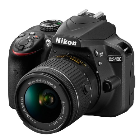 Nikon Reflex con Sensore CMOS da 24 Mpx - D3400 + 18-55 VR AF-P