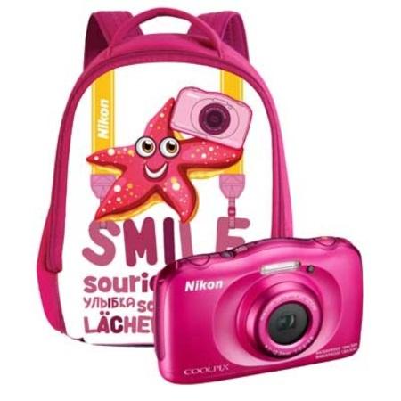 Nikon Fotocamera digitale compatta   impermeabile - W100 Pink