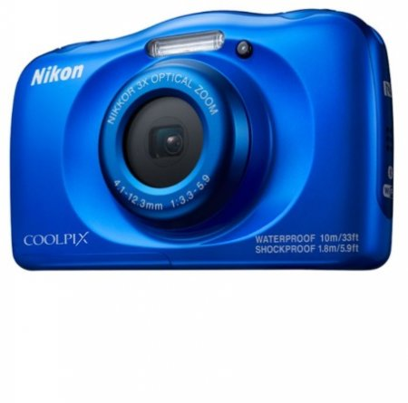 Nikon Fotocamera digitale compatta   impermeabile - W100 Blue