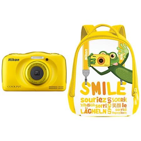 Nikon Fotocamera digitale compatta   impermeabile - W100 Yellow