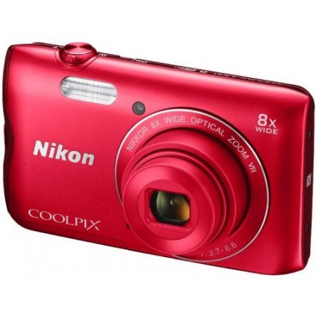 Nikon Fotocamera digitale compatta - Coolpix A300 Red