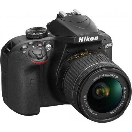Nikon Fotocamera reflex - D3400 + Af-p 18-55 Vr Ex  Nero
