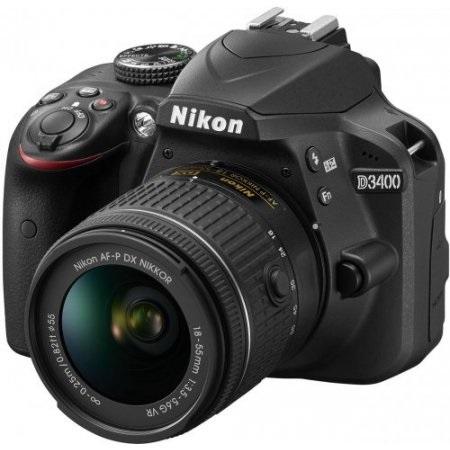 Nikon - D3400 + Af-p 18-55 Vr Ex  Nero