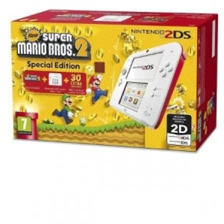 NINTENDO - 2DS WHITE RED +SUPERMARIO BROS 2