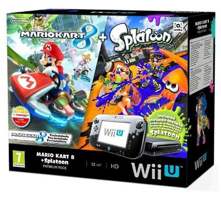Nintendo - WiiU Mario Kart 8 +Splatoon Premium Pack