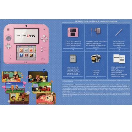 Nintendo Console 2DS + Gioco Tomodachi Life - 2DS Rosa Bianco + Tomodachi Life - 2204449