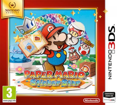 Nintendo 1 gioco - 3ds Paper Mario Sticker Star Select 2233849