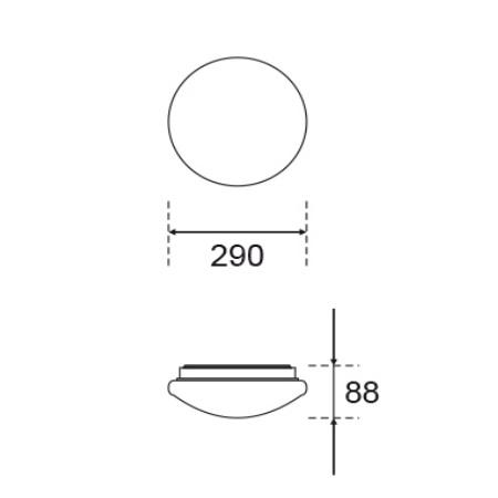 Nobile - Plafoniera Led 12w 230v 1100lm