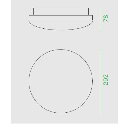 Nobile Plafoniera tonda diametro 29,2cm - Plt29/4k Plafoniera Tonda 30W 4K IP65 230V