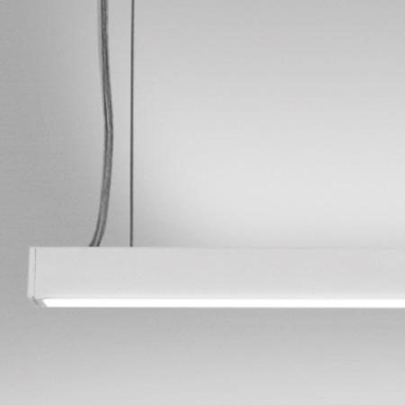 Nobile Profilo lineare LED biemissione per installazione a sospensione. - EL1200/3K/WS