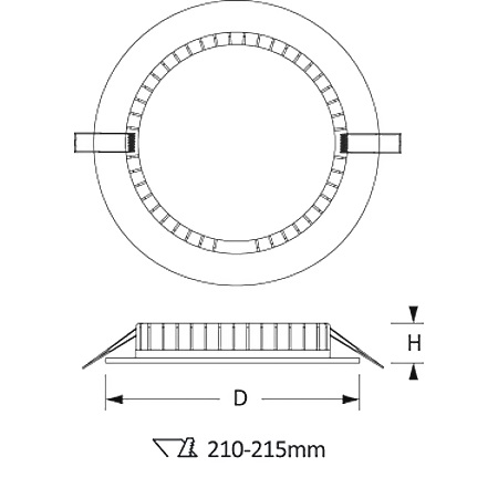 Novalux Faretto da incasso - Slim: Tondo 20w 4000k 220-240v