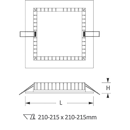 Novalux Faretto da incasso - Slim Quadrato 20w 3000k 220-240v L.230