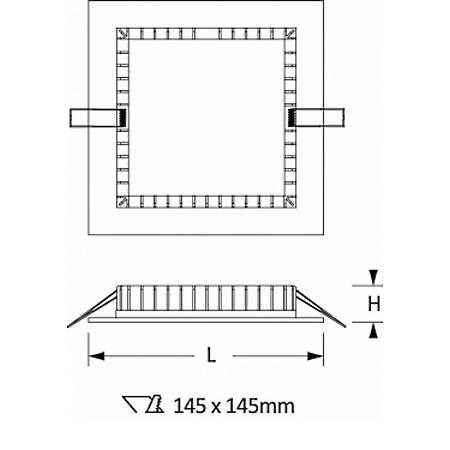 Novalux 11807.01 - Slim 13W 3K - Faretto da incasso   quadrato