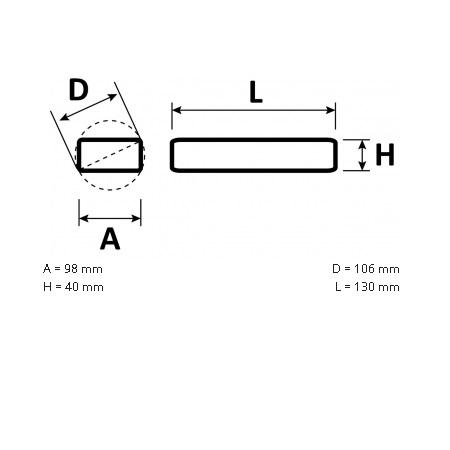 Novalux  S.p.a. Alimentatore per strisce led - 18603.99 Alimentatore 100W 24vdc