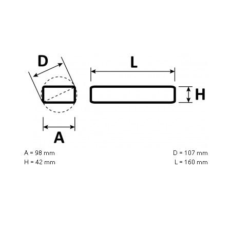 Novalux  S.p.a. Alimentatore per strisce led - 18604.99 Alimentatore 150W 24vdc