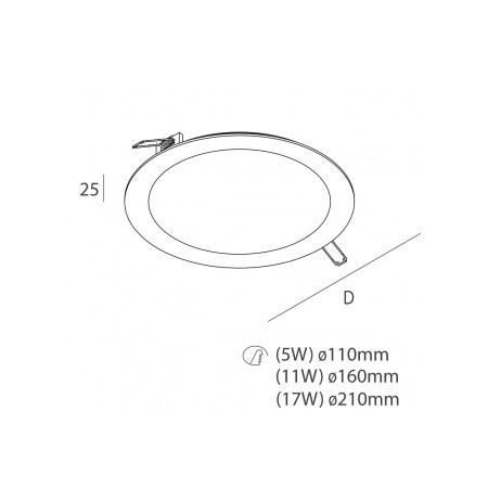 Novalux  S.p.a. Faretto da incasso - Ring 5W 3000K 220-240V 100806.01