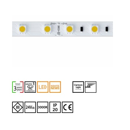Novalux  S.p.a. Striscia led 14,4W/m - 102601.99 strip led 14,4w/m 3000°k IP20