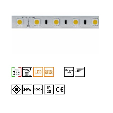 Novalux  S.p.a. - 102602.99 strip led 14,4w/m 4000°k IP20