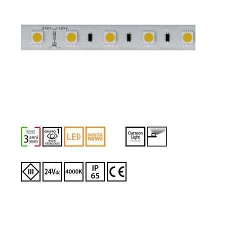 Novalux  S.p.a. Striscia led 14,4W/m - 102604.99 strip led 14,4w/m 4000°k IP65