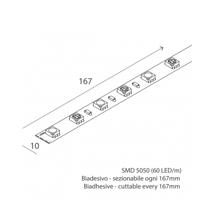 Novalux 102607.99 Striscia led 14,4W/m RGB + W