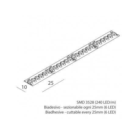 Novalux 102503.99 Striscia led 19,2W/m 3K 1752 Lm/m IP65