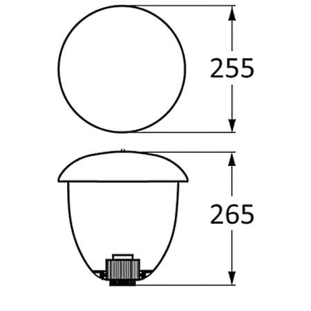 Novalux Lampada da esterno - Garden 2 E27 Nero/Opale