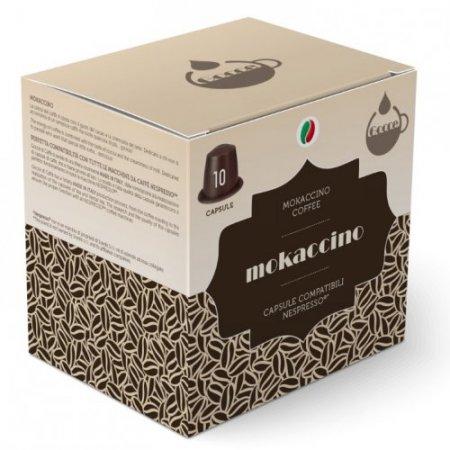 Gocce di Caffè Accessori caffetteria - 10 Capsule Mokaccino Compatibili Nespresso