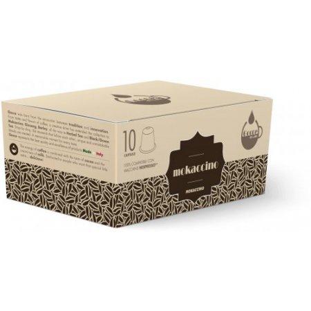 Gocce di Caffè - 10 Capsule Mokaccino Compatibili Nespresso