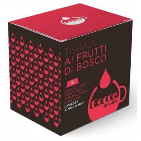 Gocce di Caffè - 10 Capsule Tisana Frutti di bosco Compatibili Lavazza A Modo Mio
