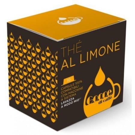 Gocce di Caffè - 10 Capsule Thè al Limone Compatibili Lavazza A Modo Mio