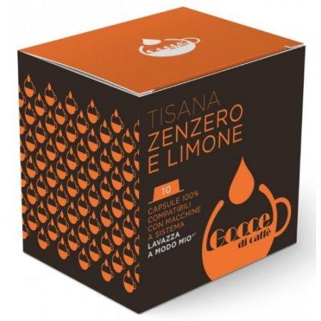 Gocce di Caffè - 10 Capsule Tisana Zenzero e Limone Compatibili A Modo Mio
