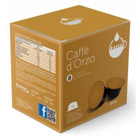 Gocce di Caffè - 10 Capsule Caffè d'Orzo Compatibili Nescafè Dolce Gusto