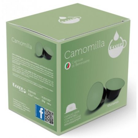 Gocce di Caffè - 10 Capsule Camomilla Compatibili Nescafè Dolce Gusto