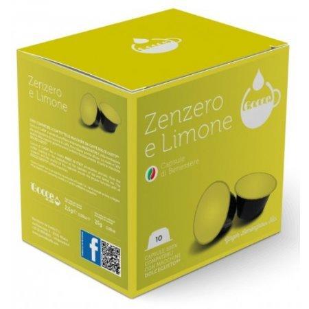 Gocce di Caffè - 10 Capsule Tisana Zenzero e Limone Compatibili Nescafè Dolce Gusto