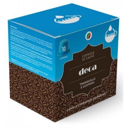 Gocce di Caffè - 10 Capsule Caffè Deca Compatibili Nespresso