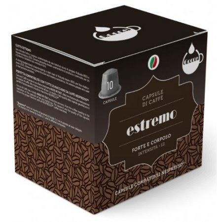 Gocce di Caffè - 10 Capsule Caffè Estremo Compatibili Nespresso