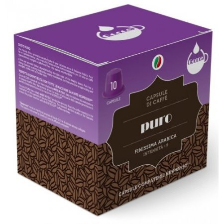 Gocce di Caffè Accessori caffetteria - 10 Capsule Caffè Puro Compatibili Nespresso